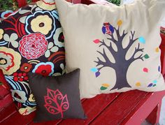 Paint Poppin' Pillows