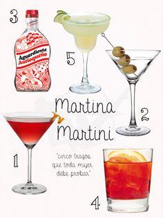 LOS 5: Tragos de Martina Martini, esta mixóloga nos cuenta cuáles son sus tragos favoritos.