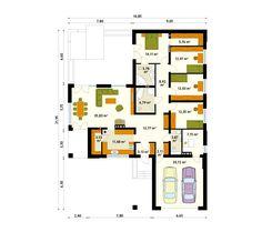 Proiect casa ID 1431 parter (P) de lux, 262 mp. Pret de la 43230 € inlcusiv…