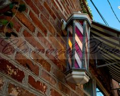 Barber Shop Pole Mt. Pleasant SC   signed color by CharminglyDixie, $10.00