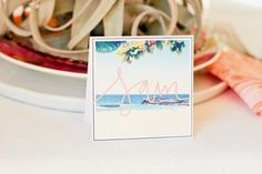 Easy & customizable DIY Instagram place cards! Perfect for a bridal or baby shower or your next dinner party.