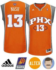 5bb9d915c Men s Steve Nash  13 Orange Swingman Alternate Jersey