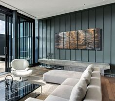 Metallic Shower Contemporary Wall Decor by Jon Allen