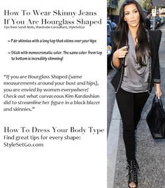 Tips for How To Wear Skinny Jeans if you are an Hourglass Shape from StyleSetGo.com/blog