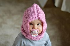 "Baby Hooded Cowl ` UPDATED NOV. 10, 2016 ~ easy level ~ finished size 7"" ~ FREE - CROCHET"