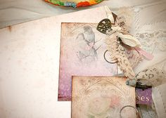 Wedding Guest Book Flower love Shabby by youruniquescrapbook