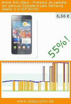 Amzer Anti-Glare - Protector de pantalla con gamuza limpiadora para Samsung Galaxy S II (GT-I9100) (Accesorio teléfono inalámbrico). Baja 55%! Precio actual 6,56 €, el precio anterior fue de 14,51 €. https://www.adquisitio.es/amzer/anti-glare-protector-1