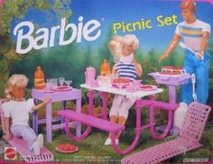 Barbie Picnic Set 1992...damn picnic table would always flip!