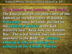 Sunday or the Sabbath?