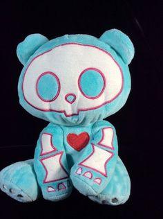"Skelanimals Chungkee Teal Panda Plush Jakks 11"" Soft Toy Stuffed #JAKKSPacific"
