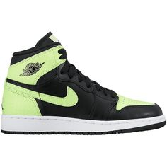 uk availability 3f0d7 db776 Jordan AJ 1 High Girls  Grade School ( 95) found on Polyvore featuring shoes