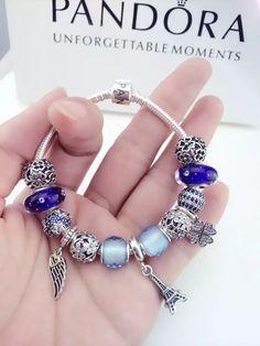50% OFF!!! $319 Pandora Charm Bracelet. Hot Sale!!! SKU: CB01428 - PANDORA Bracelet Ideas
