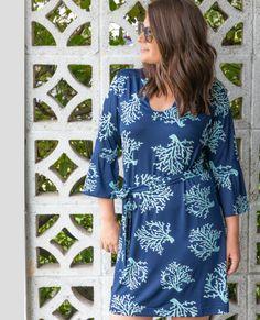 c6123a00b5e Charleston 3/4 Sleeve Tunic Dress by Escapada #preppyfashion #springstyle  #escapada #. Prep Obsessed