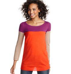 Loft - LOFT Sweaters - Colorblocked Tunic Sweater