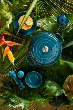 The new Deep Teal collection by iconic brand Le Creuset is inspired by both interior trends and the calming nature of green and blue hues. Kitchen Dinning Room, Teal Kitchen, Kitchen Colors, Kitchen Stuff, Le Creuset Cookware, Cast Iron Pot, Ad Home, Kitchen Cutlery, Home Comforts
