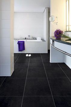 Grijze tegel kunststof met voeg Flagstone, Inspiration Wall, Washing Machine, Tile Floor, Chrome, Bathtub, Home Appliances, Flooring, Bathroom
