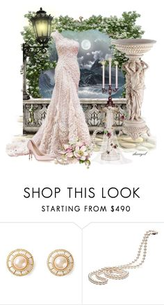 """""""Wedding on The Balcony"""" by sherryvl ❤ liked on Polyvore featuring Elie Saab, Chanel and Jimmy Choo"""