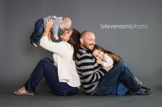 Studio photography. studio family portrait ideas. family session in studio www.kstevensonphoto.com: