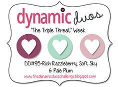 DD#95 {Rich Razzleberry, Soft Sky & Pale Plum} - Dynamic Duos
