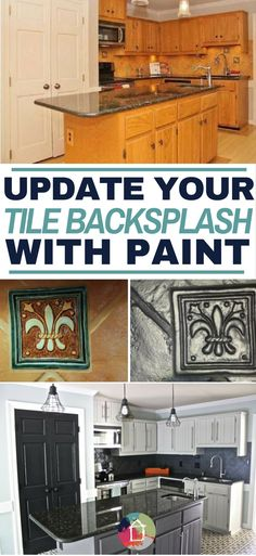 backsplash in your kitchen can be painted in one day kitchen rh pinterest com