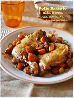 Pollo brasato alla birra con verdure – Beer braised chicken with vegetables