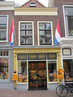 't Kaaswinkeltje - Gouda, The Netherlands. I took a 2 week bike trip around The Netherlands. I picked the worst day to pass through Gouda. Shops were closed!!