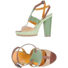 History Platform Sandals ($88) ❤ liked on Polyvore featuring shoes, sandals, sand, print shoes, multi color sandals, multicolor shoes, leather shoes and multi colored shoes