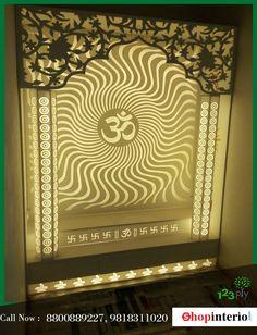 Temple Room, Home Temple, Temple Glass, Temple Design For Home, Jaali Design, Mandir Design, Pooja Room Door Design, Puja Room, D House