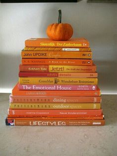 Books with orange covers