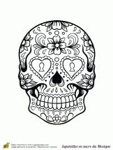 Coloriage cr nes en sucre du mexique sur sugar skulls and things pinterest - Dessin du mexique ...