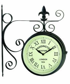gardman paddington station double sided clock stylish products for the home and garden