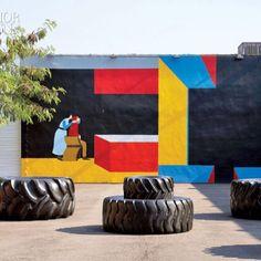 Mural de Clare Rojas, em Wynwood, Estados Unidos. #urbanart #streetart #artederua #art #arte #impacto #artist #streetartist #clarerojas #instalaçoes #installation #arquiteturadavidguerra #davidguerra #usa #estadosunidos
