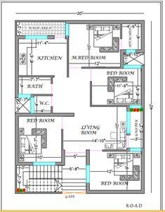 Autocad, 30x40 House Plans, No Response, Duplex House Design, Construction, How To Plan, Education, Floor Plans, Link
