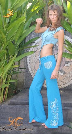 Flared hippie pants. Cotton-lycra with by LeelaCreationsBali <3
