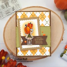 August Reveals - Day 1 - Pumpkin Latte Stamp Set by Newton's Nook Designs Cool Stencils, Fall Friends, Giant Pumpkin, Leaf Stencil, Pumpkin Spice Coffee, Polka Dot Paper, Coffee Cards, Shell, Small Leaf