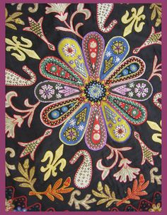gorgeous!--center is good idea for crazy quilt design