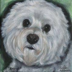 Custom+Pet+Portrait+Bichon+Frise+by+CaptivatingAnimalArt+on+Etsy,+$60.00
