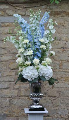 floral arrangements - hydrangea and delphinium