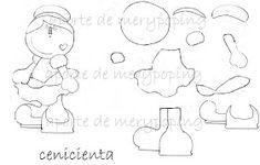 Moldes y Figuras de Sucha Foami: fofuchas planas Paper Piecing, Smurfs, Templates, Fictional Characters, Internet, Dna, Google, Patterns, Feltro