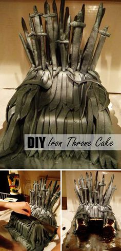 Game Of Thrones Iron Throne Cake. For fans !