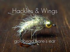 Fly Tying Goldhead Hare's Ear | Hackles & Wings