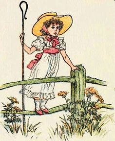 little bo peep ~ illustration by kate greenaway