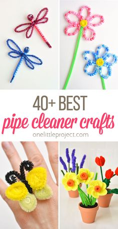 Pipe cleaner crafts are THE BEST. Pipe cleaners are inexpensive, they come in every colour you can think of AND you can bend them into pretty much anything! Halloween Crafts For Kids, Easter Crafts For Kids, Vintage Halloween, Halloween Halloween, Christmas Crafts To Sell, Diy Crafts To Sell, Christmas Ornaments, Pipe Cleaner Crafts, Pipe Cleaners