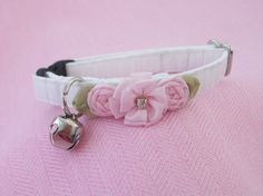 Wedding Cat Collar with Rhinetones and bell by graciespawprints