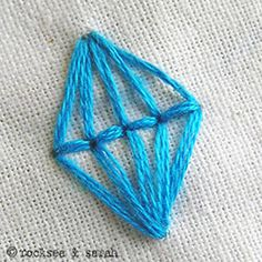 Lantern embroidery stitch. Pin leads you back to Sarah's Hand Embroidery Tools where she has free tutorials!
