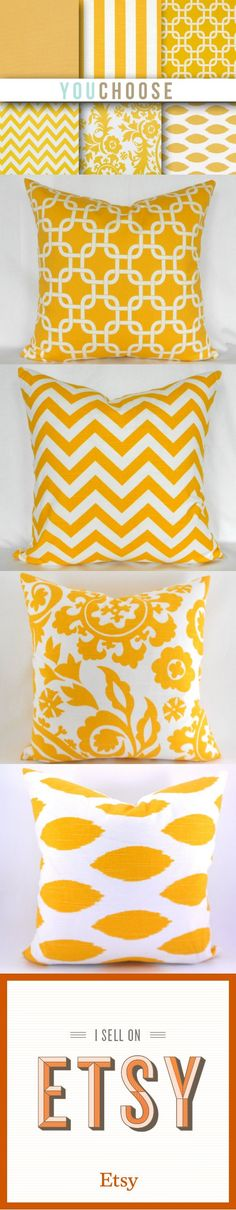 Yellow Pillow collections! These are so perfect for summer! #DIY #Pillow #homedecor