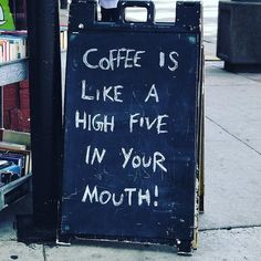 Nope not our board but too good not to post on this gloomy HK morning. #HappyFriday people!  #highfive #fridaymood #coffee #friyay #blackboardquotes #blackboardcoffee #blackboard #chalkboardfun #chalkboardwisdom #chalkboardsign #winstonscoffee #saiyingpun #hongkong #coffeeisthenewblack  Original : @mutinyinfocafe