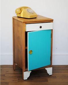 Upcycled Vintage Lebus Bedside Cabinet | eBay