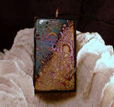 Melanie Muir inspired pendant @ hesshatcreek, via Flickr  polymer clay mokume gane