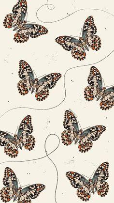 Cute Patterns Wallpaper, Cute Wallpaper Backgrounds, Pretty Wallpapers, Cool Wallpaper, Leaves Wallpaper Iphone, Butterfly Wallpaper Iphone, Aesthetic Desktop Wallpaper, Hippie Wallpaper, Purple Wallpaper